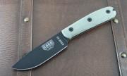 ESEE 4 Plain Edge Rounded Traditional Handles Black Blade Kydex Sheath