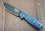 ESEE 4PB-008 - Black Blade - Blue/Black 3D G-10 Handle