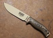 ESEE 6PDT-008 - Desert Tan Blade - 3D Coyote/Black G-10 Handle