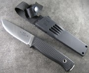 Fallkniven F1 Pilot Survival Knife - Satin Laminated 3G Powder Steel Blade - Black Kraton Handle - Zytel Sheath