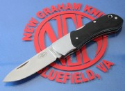 Fallkniven FH9BH Model 9 Folder Hunter - Black Micarta Handles - Laminated CoS Cobalt Steel Blade - Sweden