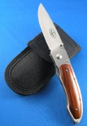 Fallkniven Model P  Folding Linerlock Knife - Select Cocobolo Onlay Handles - 3G Laminate Steel Blade