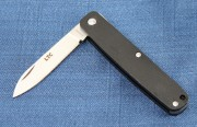 Fallkniven LTC (Legal to Carry) Non-locking Folder - Matte Black Aluminum Handles - Laminated 3G Blade - Sweden