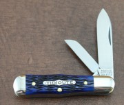 Great Eastern - Tidioute Cutlery Pimberton - 1095 High Carbon Spear and Sheepfoot Blades - Jigged Blue Bone Handles - 062219BB