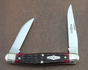 Great Eastern - Northfield Stockman - 1095 Carbon Clip and Wharncliffe Blades - Elderberry Jigged Bone Handles - 828218EJB
