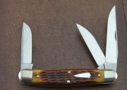 Great Eastern - Tidioute Cutlery Stockman - 1095 Carbon Clip, Wharncliffe and Skinner Blades - Copperhead Jigged Bone Handle - 828318CJB