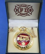 Fire Dept Pocket Watch