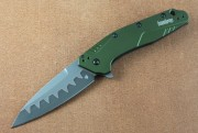 Kershaw 1812OLCB Dividen - OD Green Handle - Bohler N690 over CPM-D2 Composite Blade - Assisted Flipper