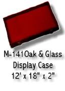 "Oak Display Case 18"" x 12"""