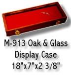 "Oak Display Case 18"" x 7"""