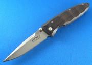 Mcusta 0013 Basic Contoured Ebony Wood  VG-10 Linerlock - Dual Thumbstuds - VG-10 Blade Steel - Seki City