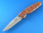 Mcusta 16D Select Quincewood Liner-lock - 33 Layer VG-10 Core Damascus - Pocket Clip - Seki City