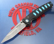 Mcusta 41C Katana Liner-lock - VG-10 Clad Blade - Black and Blue Anodized Aluminum Handles - Seki City