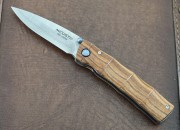 Mcusta 0074DR Take Bamboo Linerlock - 33 Layer VG-10 Core Blade - Select Cocobolo Handles - Seki City
