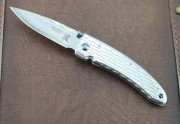 Mcusta 0111D Nami Small Framelock - 33 Layer VG-10 Core Blade - Embellished Stainless Steel Handles - Seki City