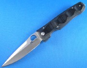 Mcusta 0121Tactily Elite Linerlock - VG-10 Super Cobalt Blade - Sculpted Black Micarta Handles - Seki City