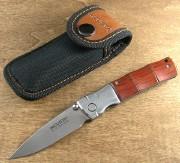 Mcusta 0145R Bamboo Linerlock - VG-10 Super Cobalt Blade - Damascus Bolsters - Select Cocobolo Handles - Seki City
