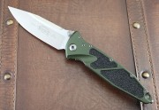 Socom Elite - OD Green Handles - Satin Spear Point 204P PE Blade