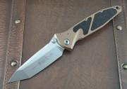 Microtech Socom Elite - Tan - Tanto -  Stonewash Plain Edge 204P Blade 16110TA