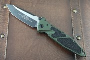 Socom Elite - Olive Drab - Tanto - 204P Steel - Plain Edge - Two Tone Blade