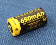 Nitecore RCR123A Li-ion Rechargeable 650mAh Battery