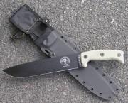 ESEE-JUNGLAS-E - Black 1095 Blade - Micarta Handles - MOLLE Compatable Kydex Sheath