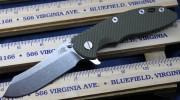 Rick Hinderer XM-18 3.5 Skinner Flipper - Stonewashed - Olive Drab Green G-10 Scale