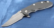 XM-18 3.5 DLC Bowie Flipper Black and Green G-10