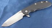 Rick Hinderer XM-24 Spanto Flipper - Tumbled - Black G-10 Scale