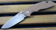 XM-18 3.5 Non-Flipper Slicer Tan G-10 Blue Anodized