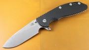 Rick Hinderer XM-24 Skinny Slicer Flipper - Stonewashed - Black G-10 Scale
