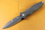 Rick Hinderer Maximus Bayonet Black DLC with Matte Smooth Carbon Fiber Scale