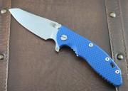 Hinderer XM-18 3.5 Skinny Sheepsfoot Tri-Way Pivot with Blue G-10