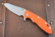 XM-18 3.5 Skinny Sheepsfoot with Working Finish 20CV Blade and Orange G10 Scale