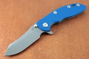 Hinderer XM-18 3.0 Flipper - Working Finish - Blue G-10 Front Scale