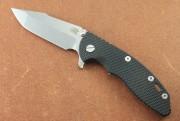 Hinderer XM-18 3.5 Skinny Harpoon Spanto - Stonwash CPM20CV Blade - Tri-Way Pivot - Black G-10 Scale