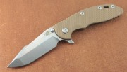 Hinderer XM-18 3.5 Skinny Harpoon Spanto -Bronze Finish Frame - Coyote G-10 Scale
