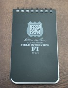 Police Field Interview Pad