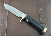Randall Model 5-5 Camp and Trail Knife with Black Micarta Handle