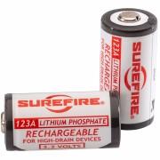 Surefire LFP123 Lithium-Iron-Phosphate 123A Rechargeable Batteries - 2 per Pak