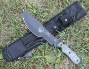 TOPS Skull Crusher Xtreme - Black 1095 High Carbon Blade - Micarta Handle Scales - MOLLE Compatable Nylon Sheath - SXB10