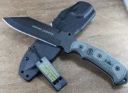 TOPS Smoke Jumper - Black 1095 Carbon Alloy Blade - Micarta Handle Scales - Kydex Sheath - SJ626