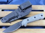 TOPS Sierra Scout - Black 1095 High Carbon Blade - Micarta Handle Scales - Kydex Sheath - SSC-01