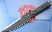 TOPS Zero Dark 30 - Black 1095 High Carbon Blade - Rocky Mountain Tread Handle Scales - MOLLE Compatable Nylon Sheath - ZERO30
