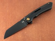 Mini Buster - Antique Bronze Titanium Handle - Flipper - Framelock - Black CPM 20CV Blade - 2003B