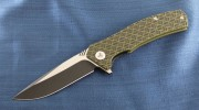 We Knife Blitz - VG-10 Blade - Black/Green G-10 Handle - 711B