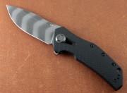Zero Tolerance 0308BLKTS - KVT Black G-10 - Blackwash Tiger Stripe CPM 20CV Blade - Framelock - Flipper