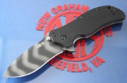 Zero Tolerance 0350TS - Tiger Stripe Plain Edge S30V Blade - Black G-10 Handle Scales - Linerlock - ZT0350TS - 0350TS