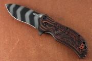 Zero Tolerance 0350TSMOC - Tiger Stripe S30V Blade - Sculpted Black/Orange G-10 Front Scale - Flipper - Assisted Opening