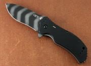 Zero Tolerance 0350TSTR - Tiger Stripe S30V Blade - Black G-10 Scales with Tritium Insert - Flipper - Assisted Opening